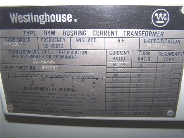 Belyea Company Electric Power Systems Easton Pa: 1200 Amp, WESTINGHOUSE, 690SP2500, 69 KV, 1980, SF6, 2500