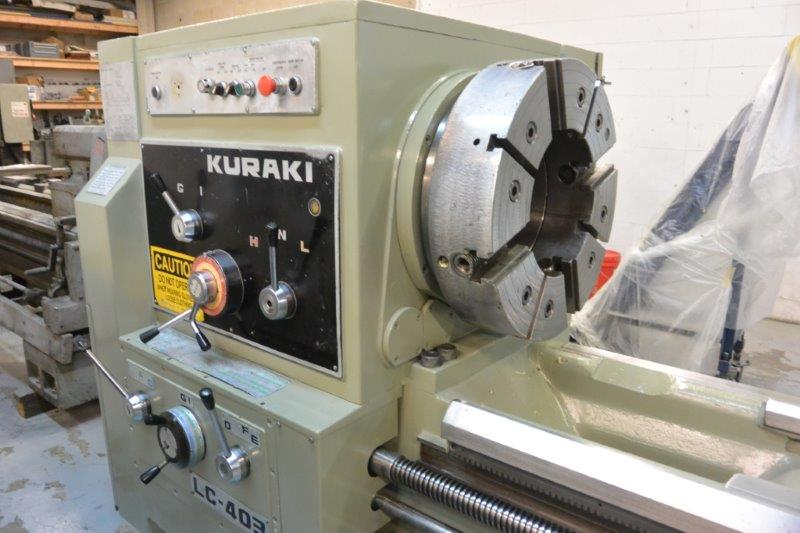 KURAKI OIL COUNTRY LATHE,32 X118 ,24 -CHK,14 -STEADY REST,REFURBISH-2013