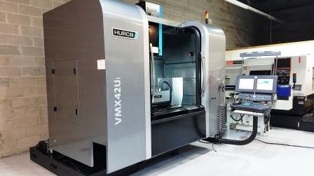 HURCO VMX42UI 5- AXIS CNC VERTICAL MACHIING CENTER , 2012,40 ATC,12,000 rpm